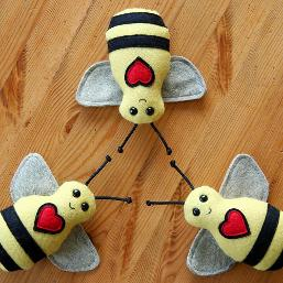 Baby Bee buddy Plush Rattle